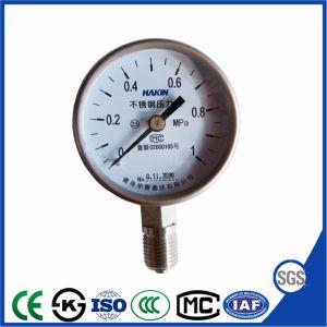 China de 100 mm de acero inoxidable de alta calidad Manómetro accesorio Auto