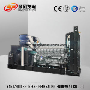 Geluiddichte Diesel van de Macht van 1100kw Mitsubishi Electric Generator met Stille Container