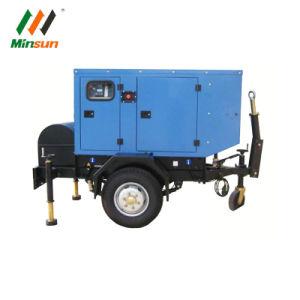 10kw-1200kw 이동할 수 있는 침묵하는 트레일러에 의하여 거치되는 디젤 엔진 발전기