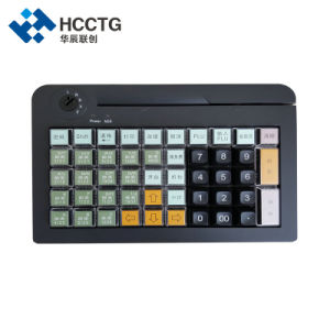 Het Mini Programmeerbare POS Toetsenbord van USB/PS/2 50keys met de Lezer van de Kaart Msr (KB50M)