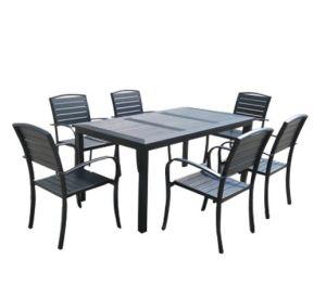 Wholesales Contrachapado al aire libre juego de comedor de metal repujado en aluminio muebles Restaurante