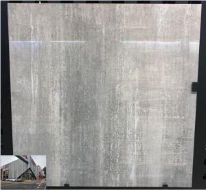 tegel van de Vloer van het Porselein van de Keramiek van de Kleur van de Oppervlakte van 600*600mm de Glanzende Grijze Volledige Verglaasde