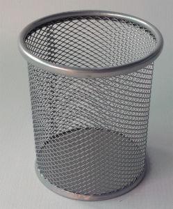 금속 메시 사무실 문구용품 책상 조직자 펜 대 케이스 펜 홀더 연필 컵