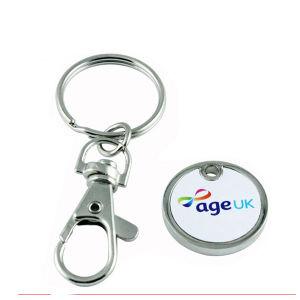 Form-Andenken-Münze Keychain Halter-kundenspezifische Zink-Legierungs-Scheinmünze (026)