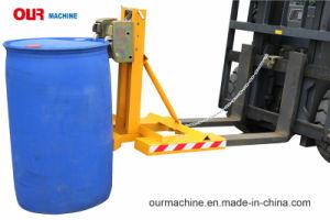 二重グリップヘッドタイプが付いている中国の工場製造業者のGatorのグリップのフォークリフトのドラムグラブ