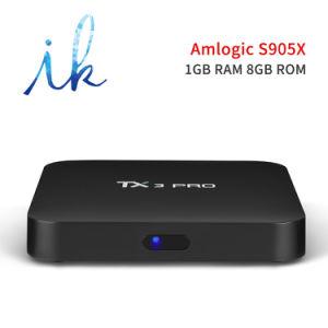 Androider intelligenter Prokasten Fernsehapparat-Tx3 mit Amlogic S905X 1GB Memory/8GB Speicher-gesetztem Spitzenkasten Kodi voll einprogrammiert Support 4K 1080P, 2.4GHz WiFi