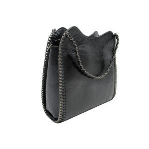 2018 Nouvelle conception de la chaîne Hotsale Femme Sac fourre-tout sac à main populaires couleur métal PU Sac en bandoulière