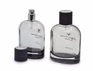 50ml envases de vidrio de lujo de Cosméticos, Perfumes atomizador