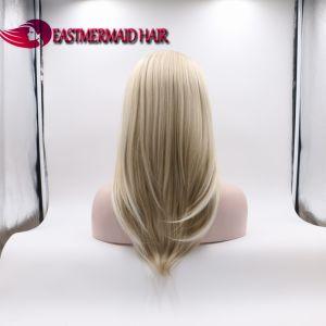 Hohe Hitzebeständigkeit-synthetische Spitze-Vorderseite-Perücke für Frauen 6/16/1001 Farben-seitliches Teil-lange gerade Welle