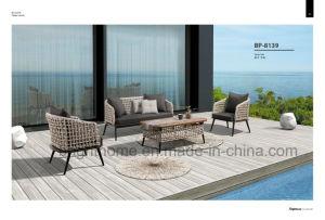 優雅な、新年のテラスの藤の柳細工の家具の樹脂の屋外のソファーの家具