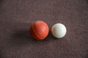 Grau alimentício PU Peneira de borracha de silicone seco a esfera de borracha