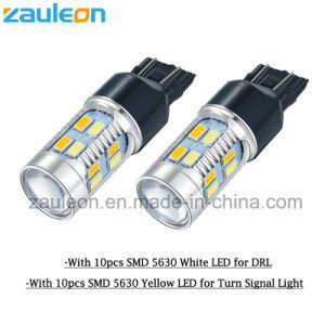 7443 580 W21/5W Iluminación auto LED Bombillas de coche