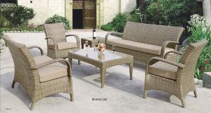 Сад плетеной мебели с высоким качеством плоские плетеной