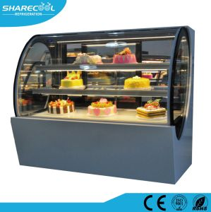 Le Ventilateur De Refroidissement Conception Ovale Gâteau De Vitrine à Gâteaux Daffichage Commercial Chiller
