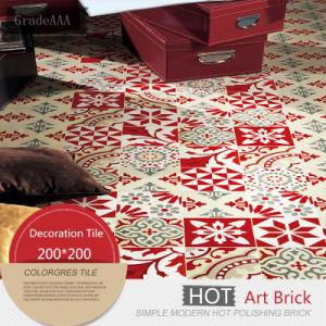 De rode Stijl Verglaasde Tegel van de Vloer van het Porselein Borhemia Ceramische (200*200)