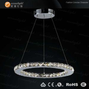 Arañas de luces LED de iluminación residencial colgante colgante lámpara colgante de cristal (Om88090r)