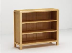 de ronde natuurlijke eiken brede boekenkast van de hoek voor kinderen