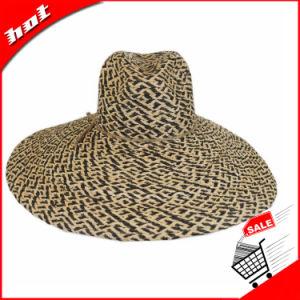 La mezcla de colores la rafia sombrero de paja