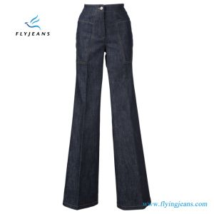 E. P. 130 Tramo azul denim Jeans Boot-Cut Mujer