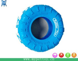 "4 "" in Rubber Tire Dog Toy"