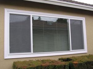 Sliding di alluminio Window con Blind Inside