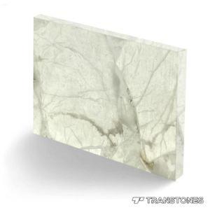 Decorado translúcido de color blanco brillante Alabastro Onyx para pared cubriendo