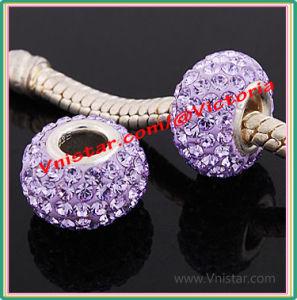 De Parels van het Kristal van de Juwelen van de manier met Echte Zilveren Enige Kern (pss843-5)