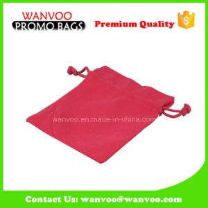 方法赤い綿の結婚式のパッキングドローストリング袋