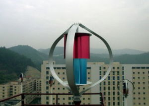 1000W Moulin vertical du vent avec panneau d'énergie solaire