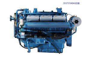 12 실린더. Generator Set를 위한 상해 Diesel Engine. Sdec 엔진. 680kw