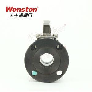 Valvola a sfera della flangia di alta qualità 2PC con l'ANSI diretto 150lbs del rilievo di montaggio