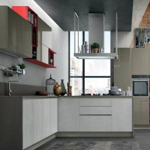 Populärer weißer Lacuqer Moder geformter Art-Küche-Schrank