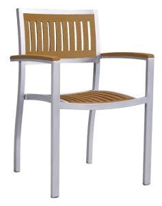 Muebles de jardín de teca mesa y sillas