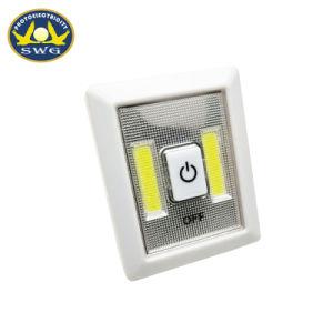 携帯用プラスチック0.5W 2COB小型ボタンスイッチライト