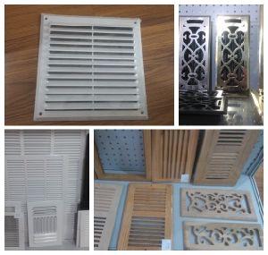 Weiße Farbe gebogenes Schaufel-Luft-Register HVAC-System