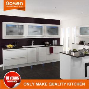 Glastür-Wand-Schrank-weiße Küche-Reinigungsschränke