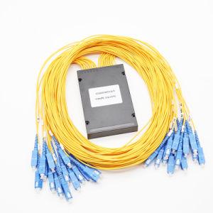 LC/UPC conector de fibra óptica de 1X4 PLC Splitter