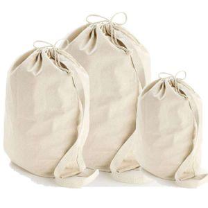 Eco Friendly Le tissu de polyester toile Sac avec lacet de serrage