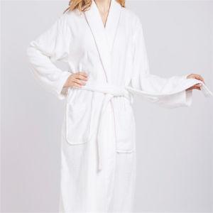 Commerce de gros hommes et femmes de couleur blanche peignoirs kimono Peignoir col