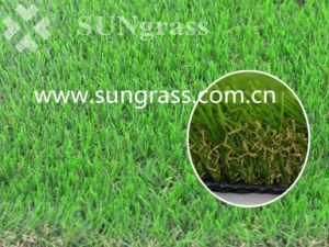 Relva sintética suave decoração paisagismo grama artificial (SUNQ-HY00182)