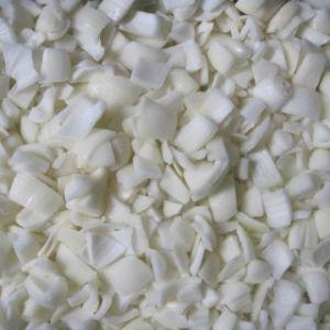 IQF congelado, dados de cebolla blanca cebolla