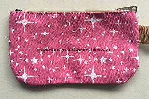 Sencillo promocional de la impresión de la estrella de la bolsa de lona cremallera pequeña Mini Coin Purse