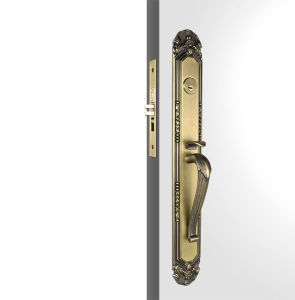 Fora da porta de entrada Handlesets / Antique Bronze manípulos de porta de entrada