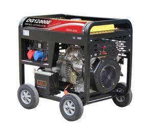 9kw는 단 하나 Phase/Dg12000를 가진 디젤 엔진 발전기를 연다
