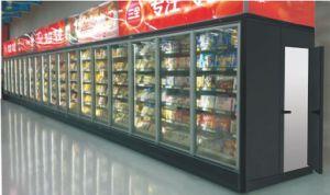 Бачок/молочных/сока/замороженные продукты стекло дисплея с холодной комнаты