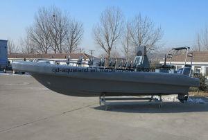 Aqualand 26feet 8mのガラス繊維の堅いNon-Air満たされた固体泡のフェンダーの/Militaryのパトロールのレスキュー/Ribのモーターボート(rib800b)