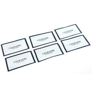 Prendas personalizadas de sarga etiqueta tejida Sin plegado