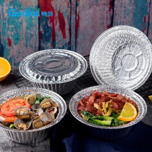 Folha de alumínio descartáveis recipiente de alimentos para Godfoil Takeway Tampa da Caixa