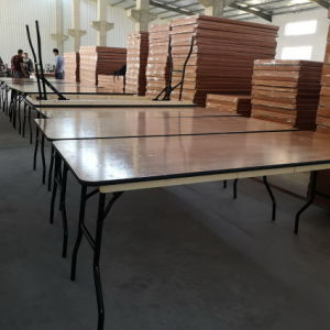 Restaurante 3/4/5/6/8 pies de madera contrachapada de Bodas mesa de comedor plegable redondo