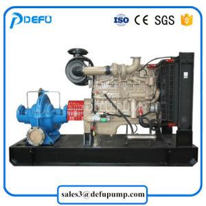 Horizontal de irrigação agrícola Bipartida do motor diesel da bomba de água
